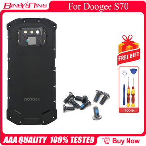 Image 5 - New Battery Case Protective Battery Case Back Cover+Power Volume Cable+Fingerprint Cable+Camera Glass For Doogee S70/S70 Lite