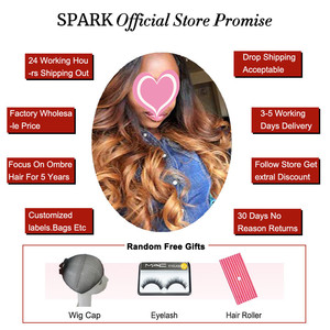 Image 5 - Ombre Peruvian Loose Wave Bundles with Closure 1B/4/30 Spark Remy Hair Extension Human Hair Bundles with Closure Medium Ratio