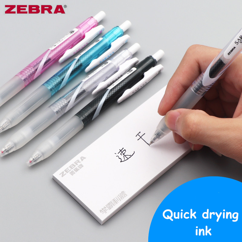 3pcs Zebra JJZ33 SARASA Speedy Black Carbon Gel Pen 0.4/0.5mm Blue/Black/White/Pink Quick-Drying Ink Office School Supplies