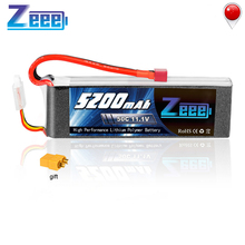 Zeee 3S RC LiPo Battery 11.1V 5200mAh 50C Deans Plug with XT60 Connector for RC Car Helicopter Quadcopter Boat RC Airplane tcb rc drone lipo battery 4s 14 8v 2200mah 25c for rc airplane car helicopter akku 4s batteria cell free shipping