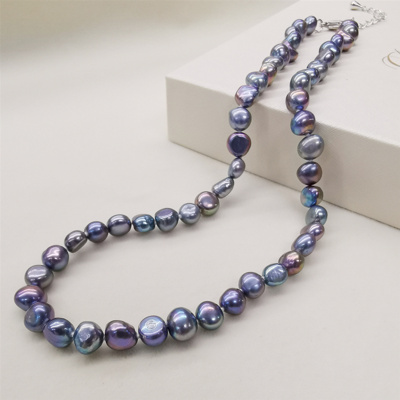 DMNFP398 Natural Freshwater Pearl Necklace Black/White/Pink/Purple Pearl Necklace Fine Pearl Jewelry For Women