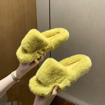 Пальто из искусственного меха; Домашние тапочки; Пышная юбка для женщин; Шлепанцы без задника с открытыми пальцами удобная обувь на меху пло...