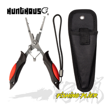 Hunthous Fishing Plier Stainless Steel Plier Fishing Lure Scissor Braid Line Lure Cutter Hook Remover Tackle Tool Cutting Tongs