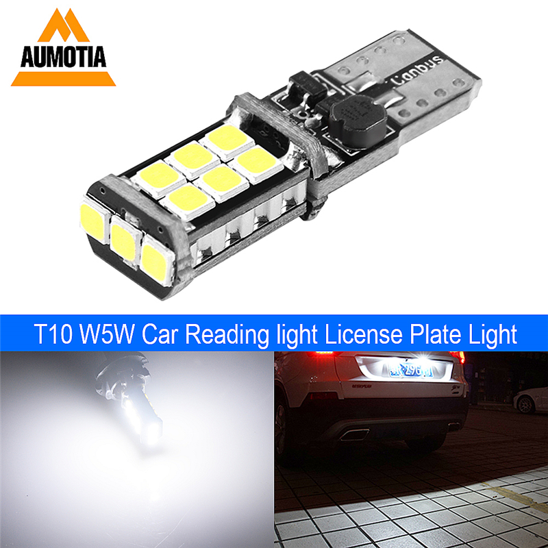 T10 LED CANBUS Car Light Bulb 194 W5W LED 3030 SMD 501 Auto Turn Side License Plate Light Marker Interior Lamp