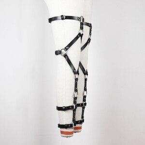 Image 5 - UYEE أحزمة الشرير اليدوية روك هاراجوكو للتعديل الفخذ العليا جورب الأربطة الساق حلقة حلقة تسخير للجينز الساق الرباط LP 025