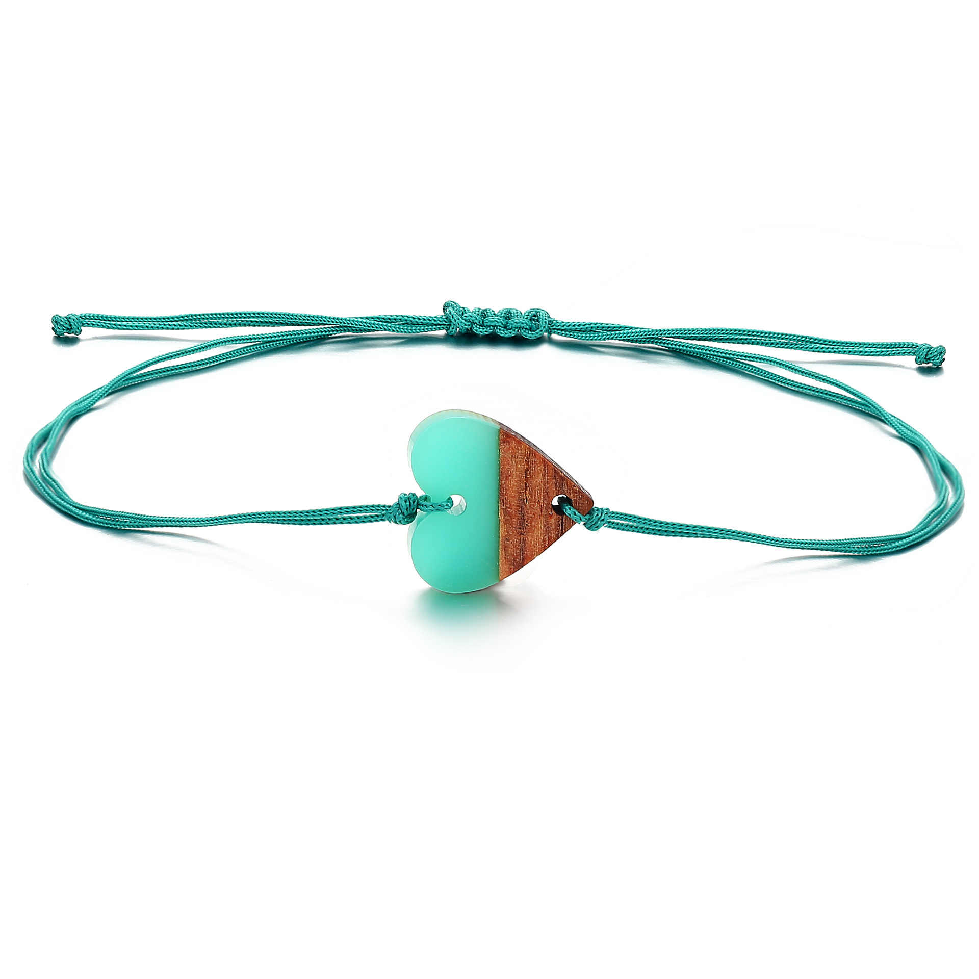 8 ESTAÇÕES Bohemian Coração Casal Pulseiras Para Mulheres Homens Jóias Corda Trançada Push-pull Charm Bracelet Melhor Presente Amizade, 1 PC