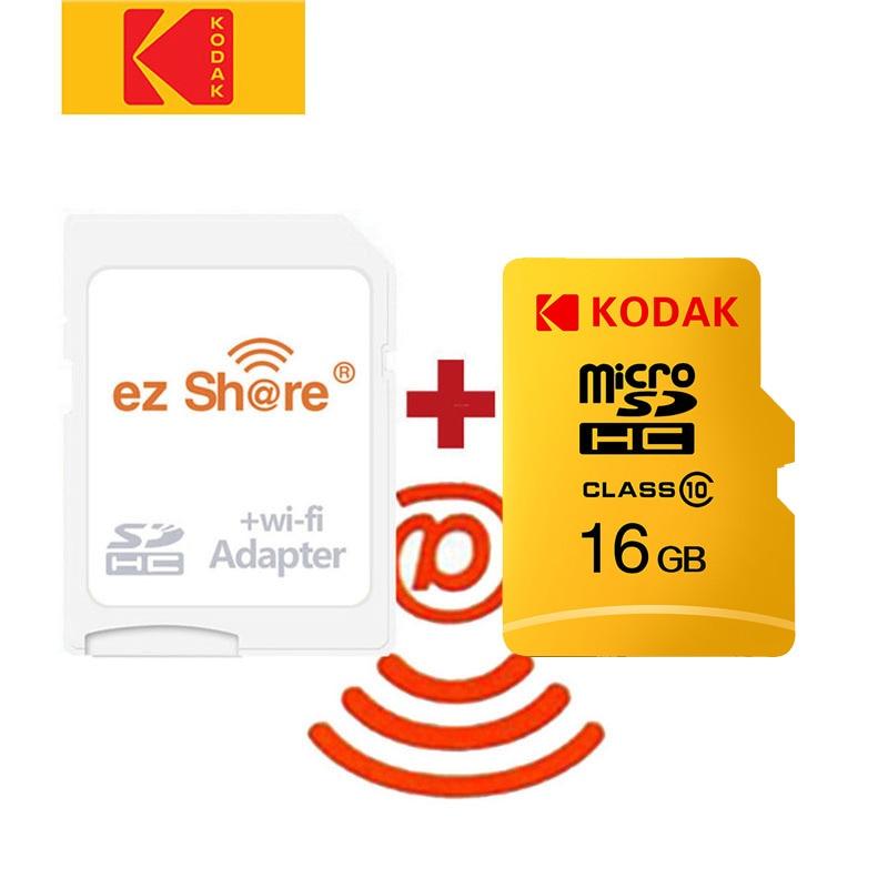 Sans fil ez share adaptateur wifi + Kodak Micro SD class10 microsd wifi carte TF sans fil 32 go carte SD 64 go carte cartao de mémoire 128 go