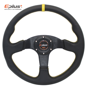 Image 4 - EPLUS Auto Styling Sport Lenkrad Alcanta PVC Universal 14 Inches350MM Aluminium Nachrüstung Geändert Rot GELB