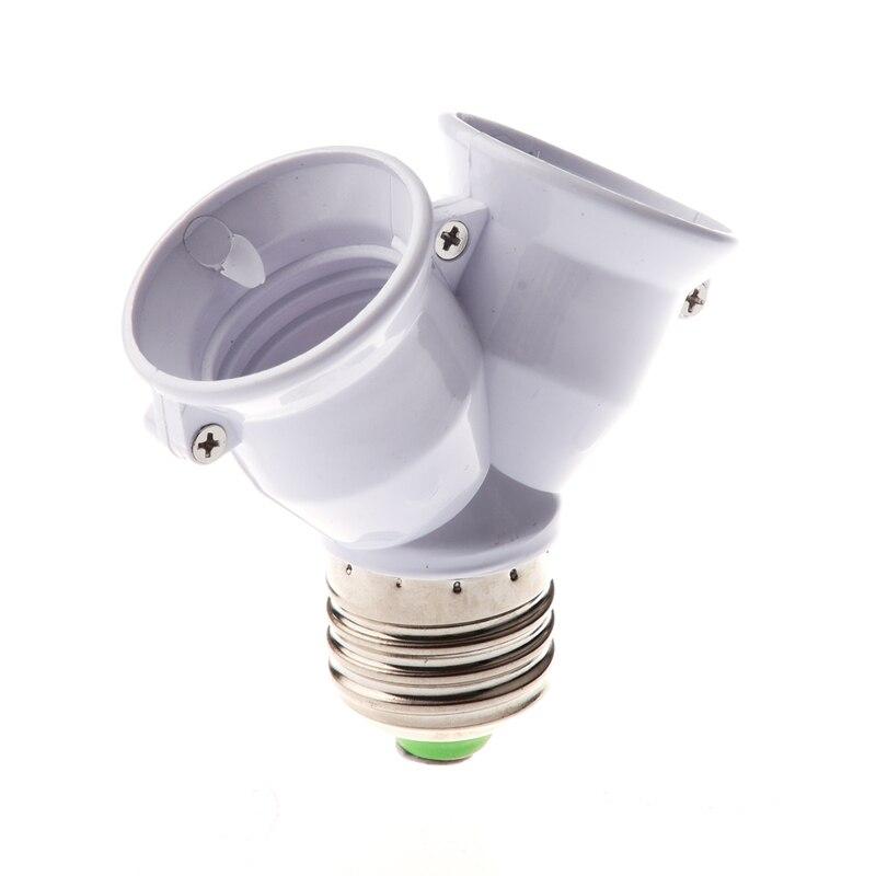 E27 1 to 2 E27 LED Light Lamp Bulb Adapter Converter Split Splitter Base Socket