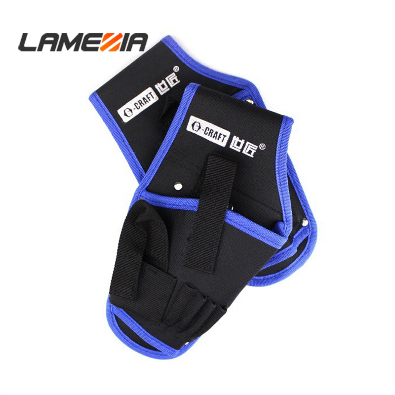 LAMEZIA High Quality Oxford Cloth Tool Bag Portable Cordless Drill Holder Pouch Toolkit For Waist