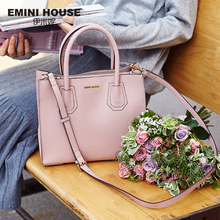 EMINI HOUSE Split Leather Tote Bag Luxury Handbags Women Bags Designer Women Leather Handbags Shoulder Bag Messenger Bags 2018 new products women bag split leather fashion smile bag shoulder bags messenger bags woman handbags trapeze bags