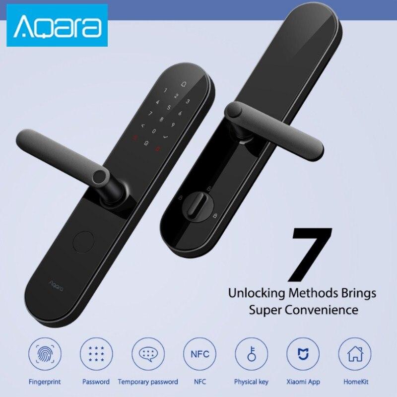 Top Aqara N100 Smart Door Lock Fingerprint NFC Unlock Works Bluetooth Password With Mijia HomeKit Smart Linkage With Doorbell