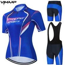 VIMAAP-Conjunto de Ropa de Ciclismo profesional para mujer, camisetas de verano para Ciclismo de montaña