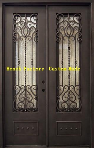 Shanghai Hench Brand China Factory 100% Custom Made Sale Australia Ornamental Iron Entry Doors