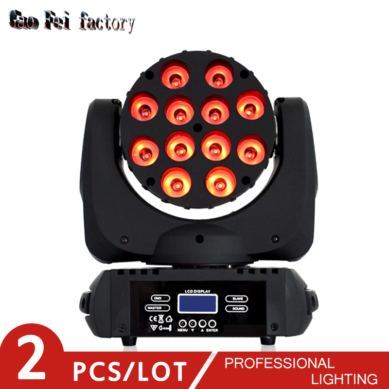 Mini Led Moving Head Light With Dmx Led Wash Light 12X12W Rgbw 4in1 Stage Light For Dj Disco Light