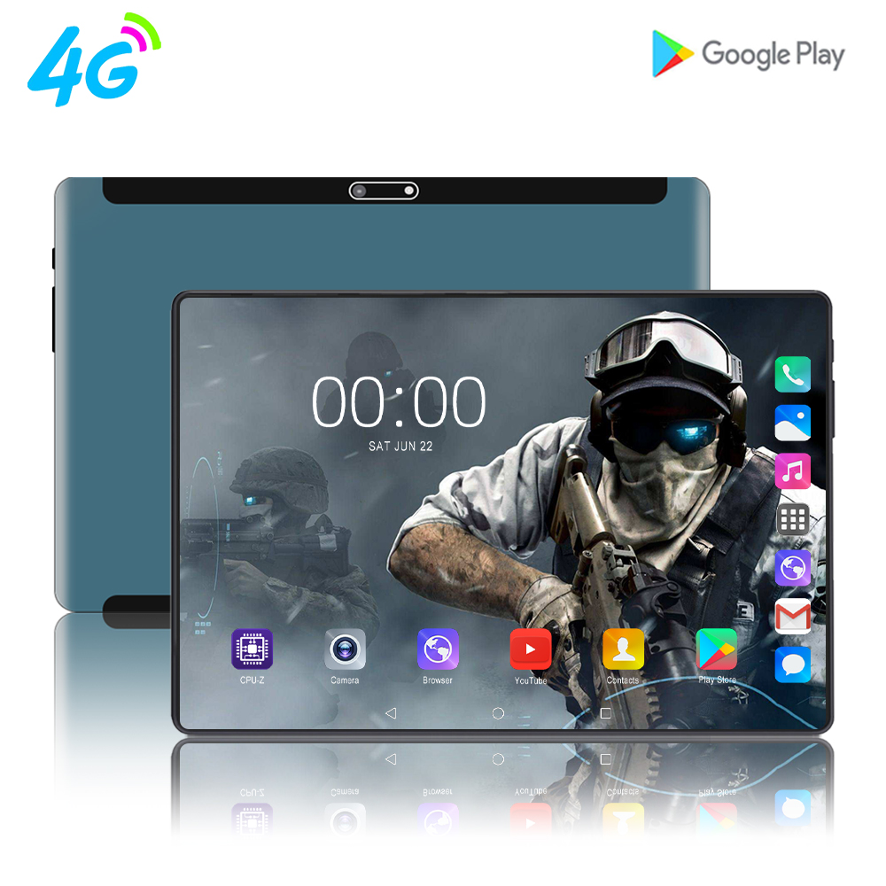 2020 New Arrived 10.1 Inch Tablet PC Octa Core Android 9.0 WiFi Dual SIM Cards 4G LTE Tablets 8GB RAM 128GB ROM 1920x1200 10