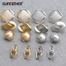 GUFEATHER M673 jewelry accessories 18k gold plated rhodium plated diy pendant hand made diy earrings jewelry making 6pcs lot cheap Pendant Accessories 1 5cm 1 3cm Jewelry Findings Metal Women girls lovers Party Wedding Valentine s Day Gift Christmas