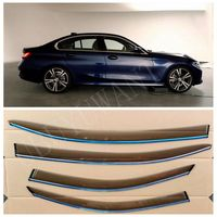 Pasuje do BMW serii 3 G20 2019 2020 320d 330i 4 sztuk/zestaw okno Visor Vent odcienie osłona przeciwdeszczowa straż Auto akcesoria w Markizy i zadaszenia od Samochody i motocykle na