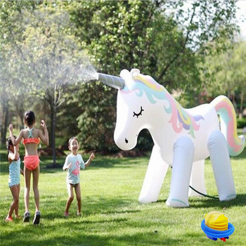 Ginormous Unicorn Sprinkler Inflatable Float Yard Garden Party Water Spray Toy For Kids Family Fun Inflatable Unicorn Water