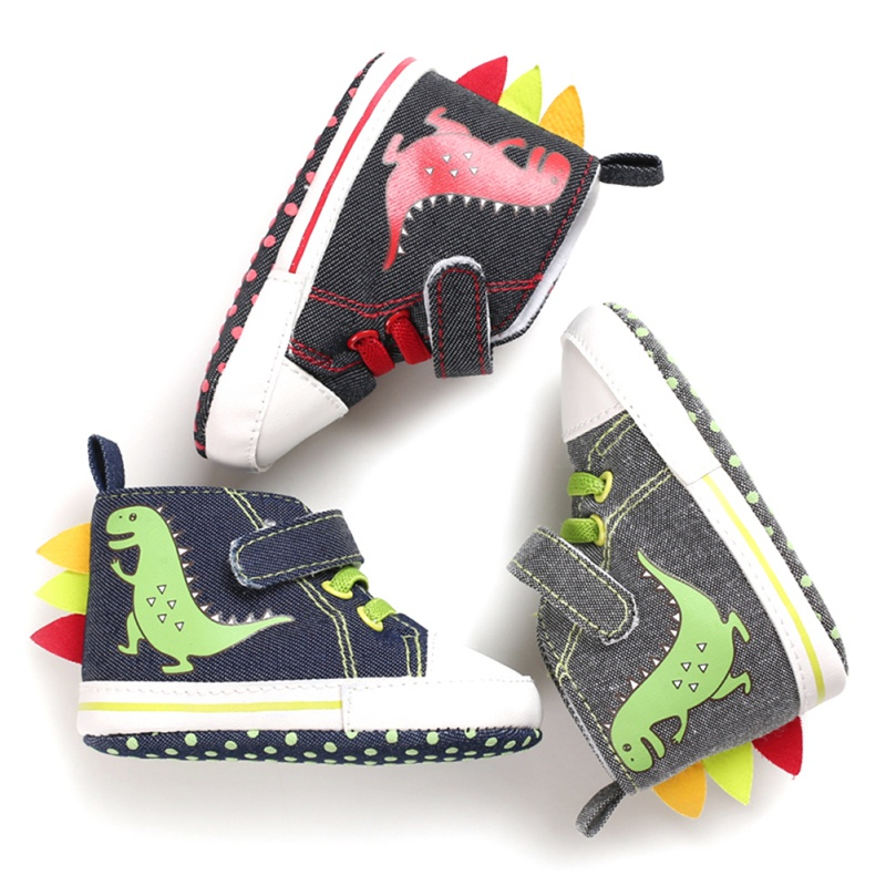 Canvas Classic Boy Shoes Dinosaur Newborn Baby Boys Shoes First Walkers Infant Toddler Soft Sole Anti-slip Baby Shoes