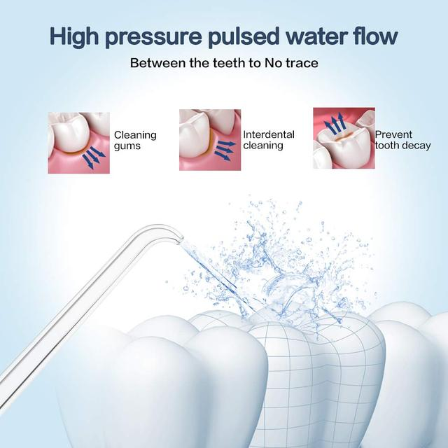 Water Flosser Electric Dental Ultra Pulse Pressure Countertop For Family 600 ML Capacity with 7 Jet Tips FDA Approved
