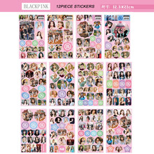 12piece/set Blackpink Stickers kpop Jennie Jisoo Lisa Rose HD Photo high quality stickers new arrivals K-pop supplies(China)