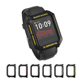For Amazfit Bip Case Smart Watch protector for Xiaomi Tough Armor Cover for Huami Bip Lite Bip S U Bumper PC TPU Shell bapick full cover soft tpu bumper for xiaomi amazfit bip case smart watch screen protector for amazfit bip s case accessories