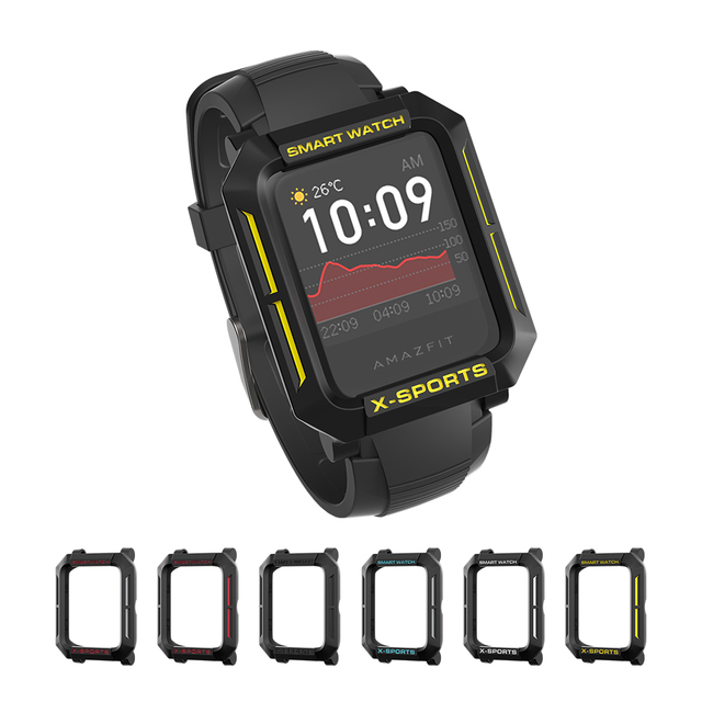 For Amazfit Bip Case Smart Watch protector for Xiaomi Tough Armor Cover for Huami Bip Lite Bip S Bumper PC TPU Shell Multicolor