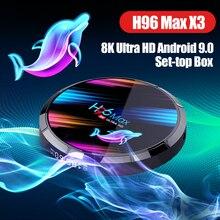 H96 Max X3 Android 9.0 8K TV Box Amlogic S905X3 64-bit Quad