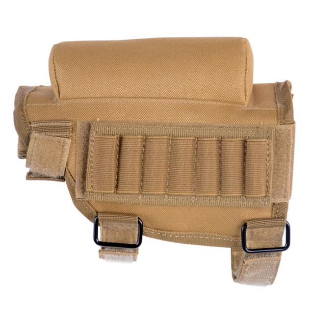 Tactical Rifle Cases Cheek Rest Riser Ammo Cartridges Hunting Carrier Canvas Pouch Round Cartridge Bag Shell Buttstock Ammo 3