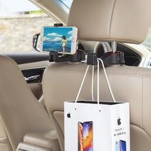 Adjustable Car Headrest Hooks Mobile Stand  Car Phone Holder Fastener Seat Back Hanger Clips For Bag Handbag Houseware