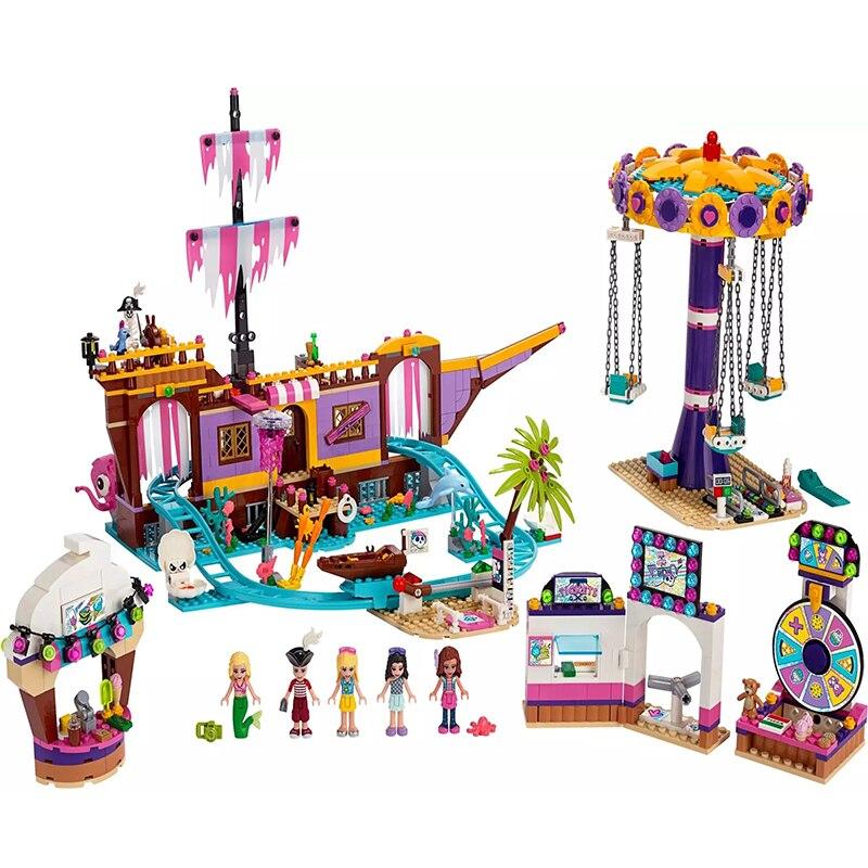New 2020 Heartlake City Amusement Park Fit Lepining Girls Friends 41375 Set Building Block Bricks Toys For Girl Christmas Gift