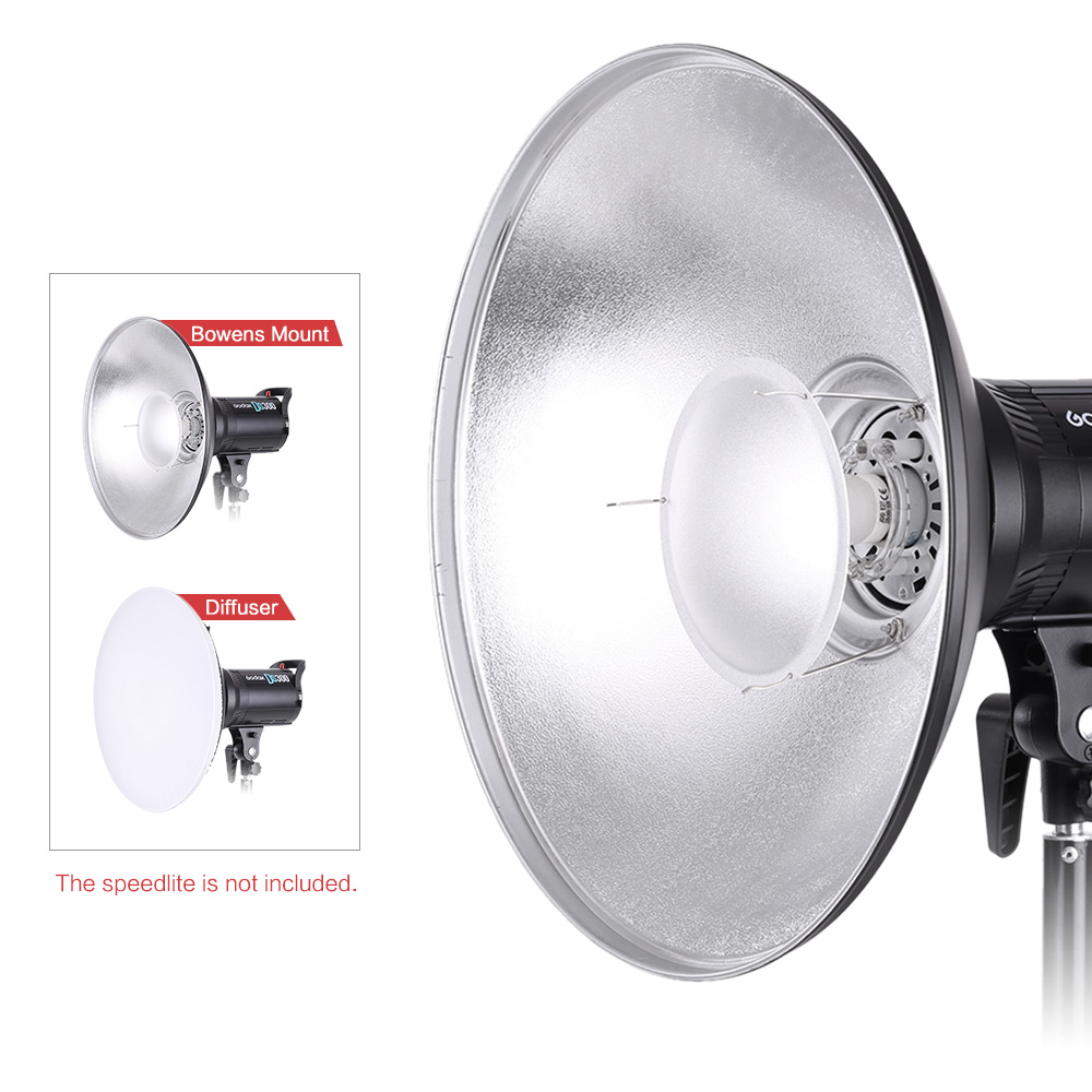 Image 5 - 41cm Beauty Dish Reflector Strobe Lighting for Bowens Mount Speedlite Photogrophy Light Studio Accessory-in Photo Studio Accessories from Consumer Electronics
