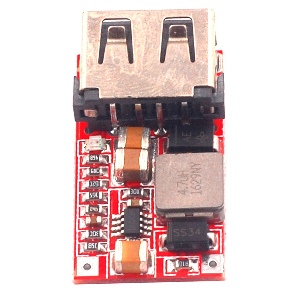 Efficiency 97.5% DC-DC Step-Down Module 6-24V12V24V To 5V3A Car USB Phone Charger Car Step-Down Module