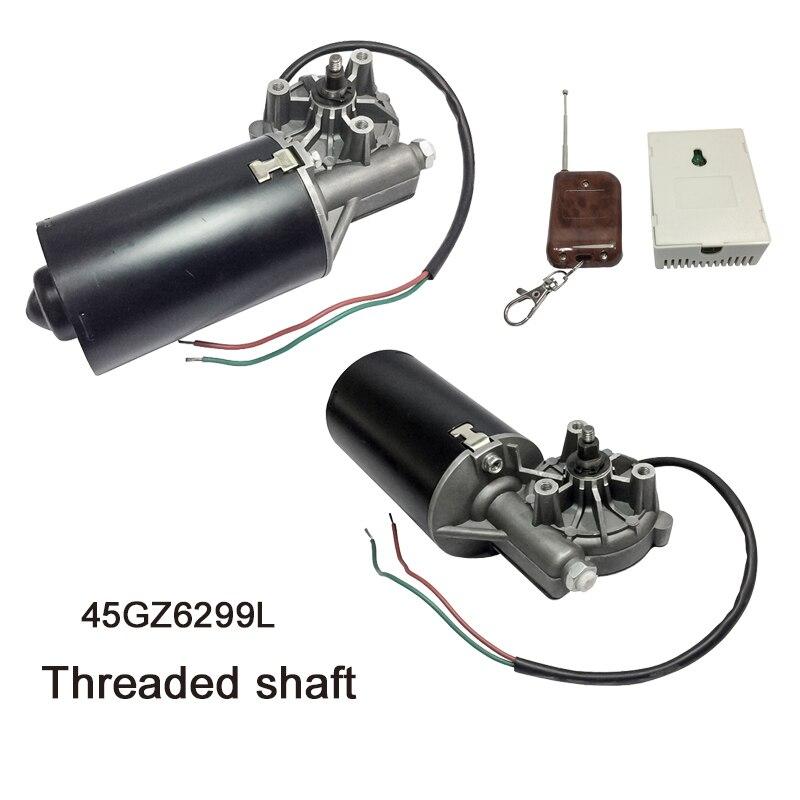 Motor bonde reversível da engrenagem do ângulo direito da c.c. do motor 24 v 50 rpm 45 w da porta da c.c. 45gz6299l para o bbq com torque alto rosqueado do eixo 29kg