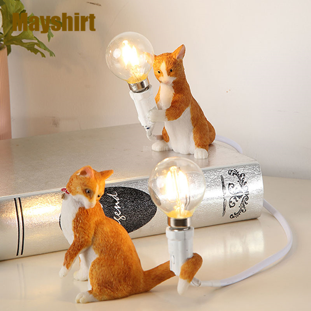 Seletti résine chat lampes de Table salon moderne lampe de bureau chambre chevet luminaires Animal debout éclairage décor à la maison