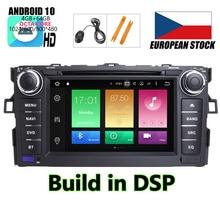 HIRIOT Android 10 AUTO DVD GPS Player Für TOYOTA AURIS 07 11 Octa 8 Core 4GB + 64GB + DSP Navigation BT WIFI Multimedia Stereo Auto