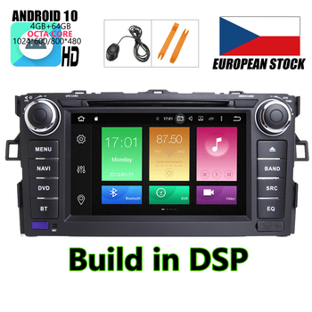 HIRIOT Android 10 CAR DVD GPS Player For TOYOTA AURIS 07-11 Octa 8 Core 4GB+64GB+DSP Navigation BT WIFI Multimedia Stereo Auto