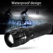New Bike Light Waterproof Brightness Bicycle Headlights Telescopic Zoom Flashlight Mountain Equipment