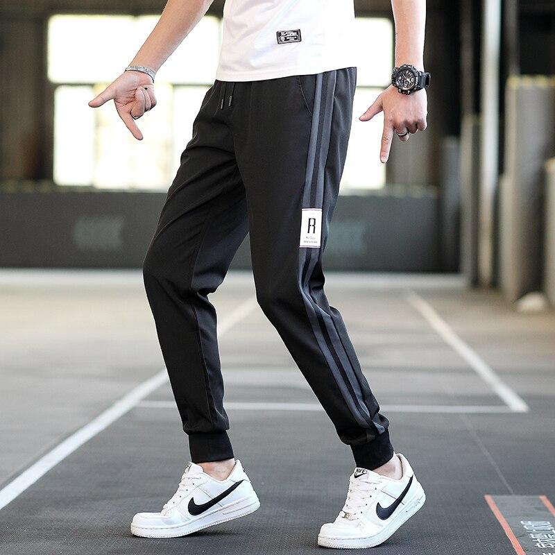 Sport Hosen Männer Casual Atmungsaktive Männer Hose Schwarz Hosen Dünne Bleistift Hosen Männlichen Sommer Laufschuhe Männer Kleidung der M-4XL homme