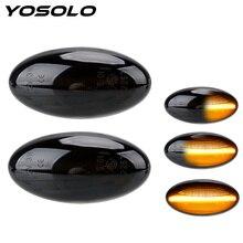Una coppia di indicatori di direzione che scorre LED Car Dynamic Side Marker lampeggiatore per Peugeot 307 206 207 407 107 607 per Citroen C1 C2