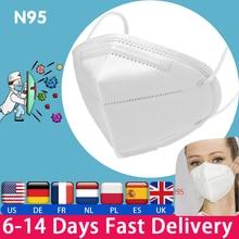 KN95 FFP2 FFP3 Face Mask kn95 Masks Filter Filtration Dust Mouth Mask Hygiene Respirator