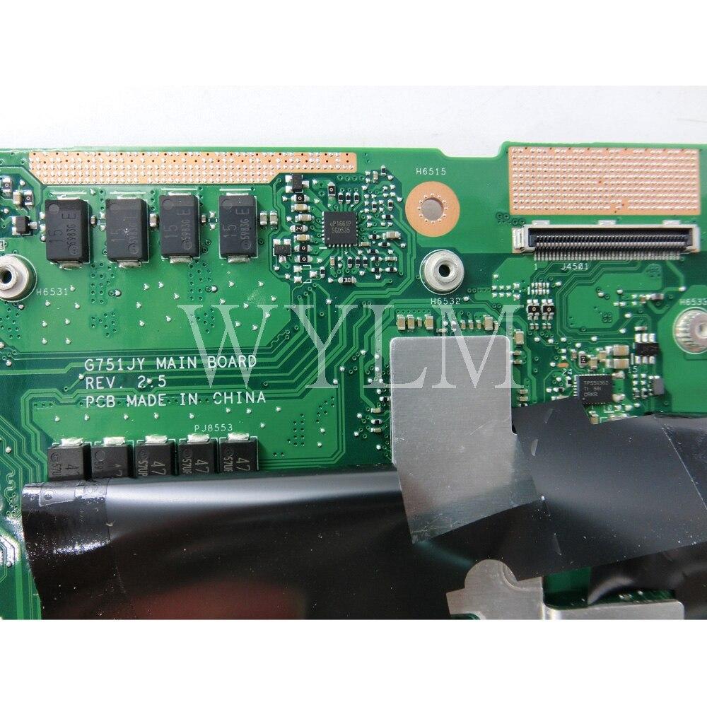 For ASUS ROG G751J G751JT G751JY Motherboard i7-4860HQ//4870HQ GTX980M//4GB