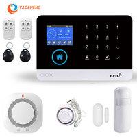 PG-103 Drahtlose WIFI GSM Alarm mit metall detektor fenster tür sensor smart home kit Sicherheit Alarm System Für iOS Android APP