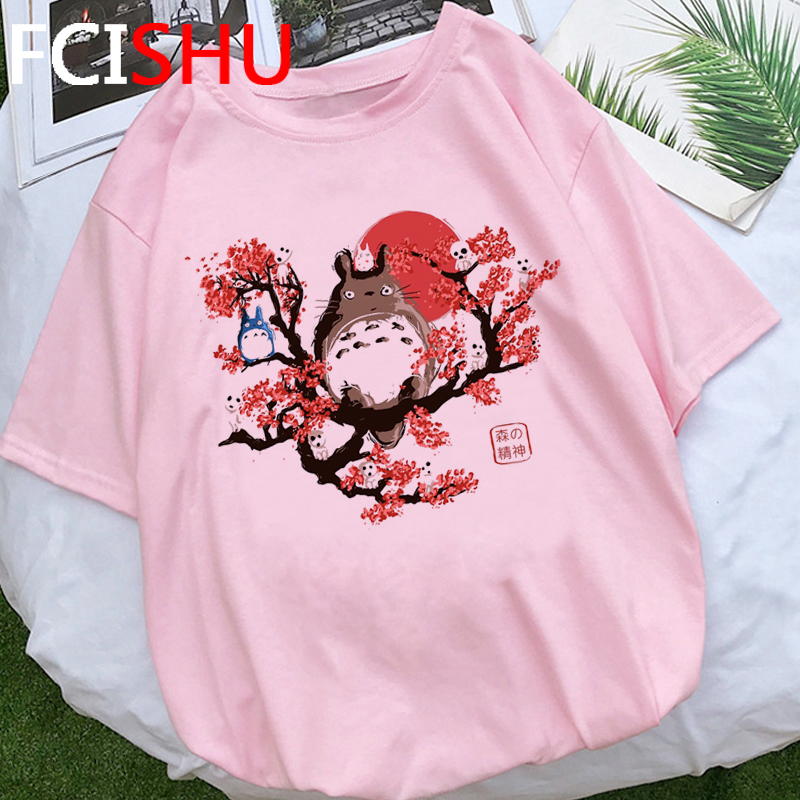 Cute Totoro Anime Summer <font><b>Tshirt</b></font> Women Princess Mononoke Plus Size T-shirt Woman <font><b>Spirited</b></font> <font><b>Away</b></font> Graphic T Shirt Top Tees Female image