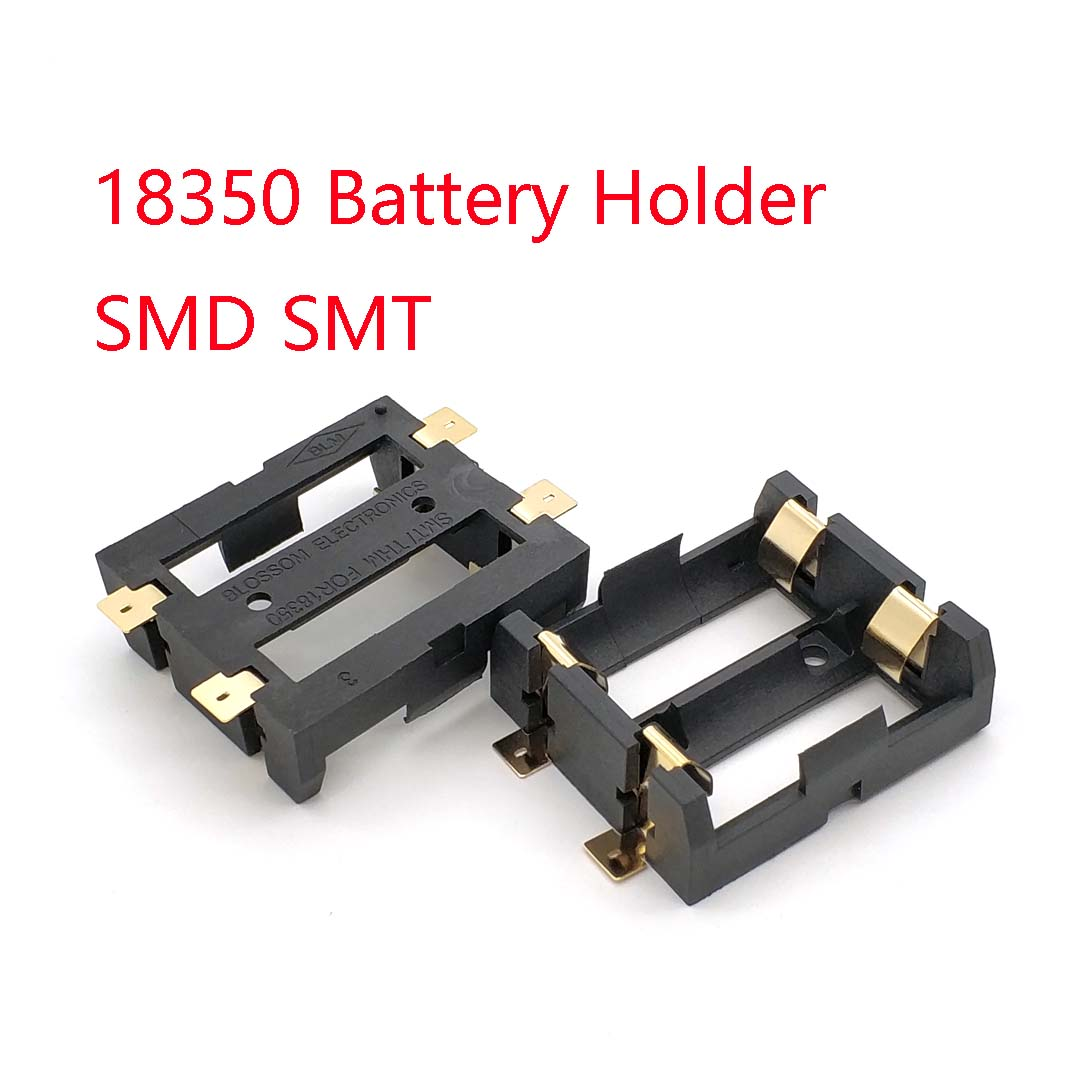 2*18350 Battery Holder Smd Smt Batteries Case Storage Box With Bronze Pins 2 Slot 2*18350 Rechargeable Battery Shell