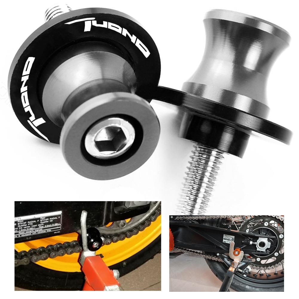 6mm Swingarm Spools for Aprilia RS250 RSV4 Mille Shiver 750 Dorsoduro 1000 Tuono