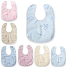 Bibs-Towel Newborn Baby Kids Print Feeding-Apron Velvet Muslin Saliva Waterproof