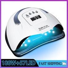 SUN X7 Max 180W Nail Lamp Upgrade 57LED UV Lamp Phototherapy Quick Dry Gel Nail Lamp Professional Nail Gel Lamp