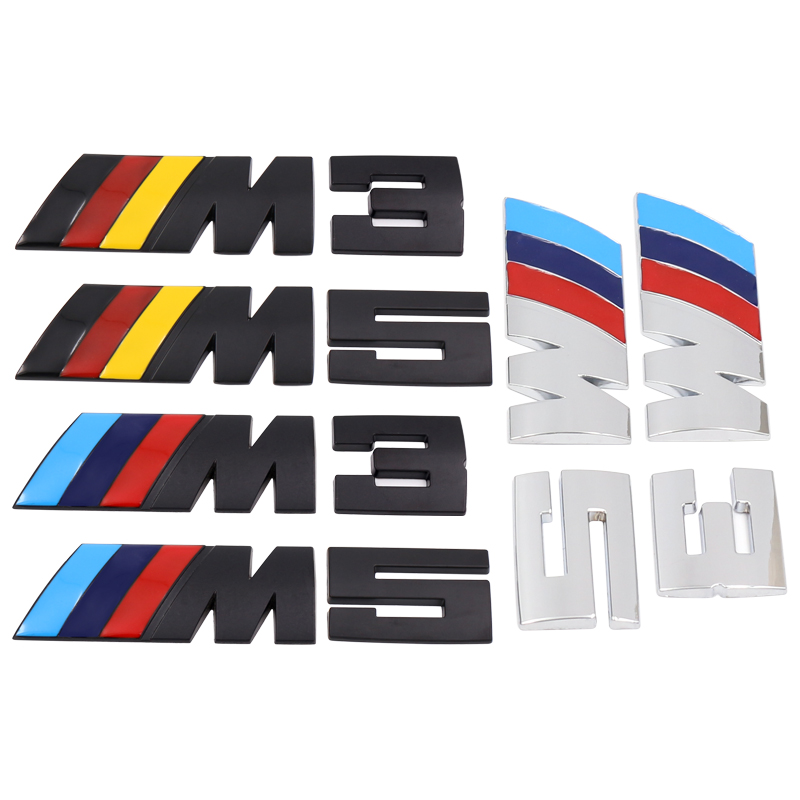 1pcs Car Side Body Labeling Car Trunk Decoration Sticker For BMW M3 M5 M6 X1 X3 X5 E34 E39 E36 E60 E90 E46 F30 Car Accessories